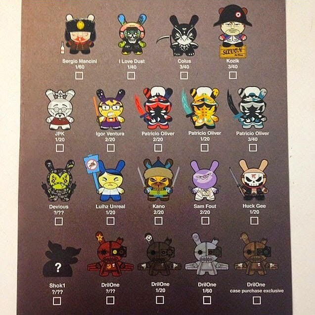 """Art of War"" Dunny 2014 Series by Kidrobot Checklist & Ratios"