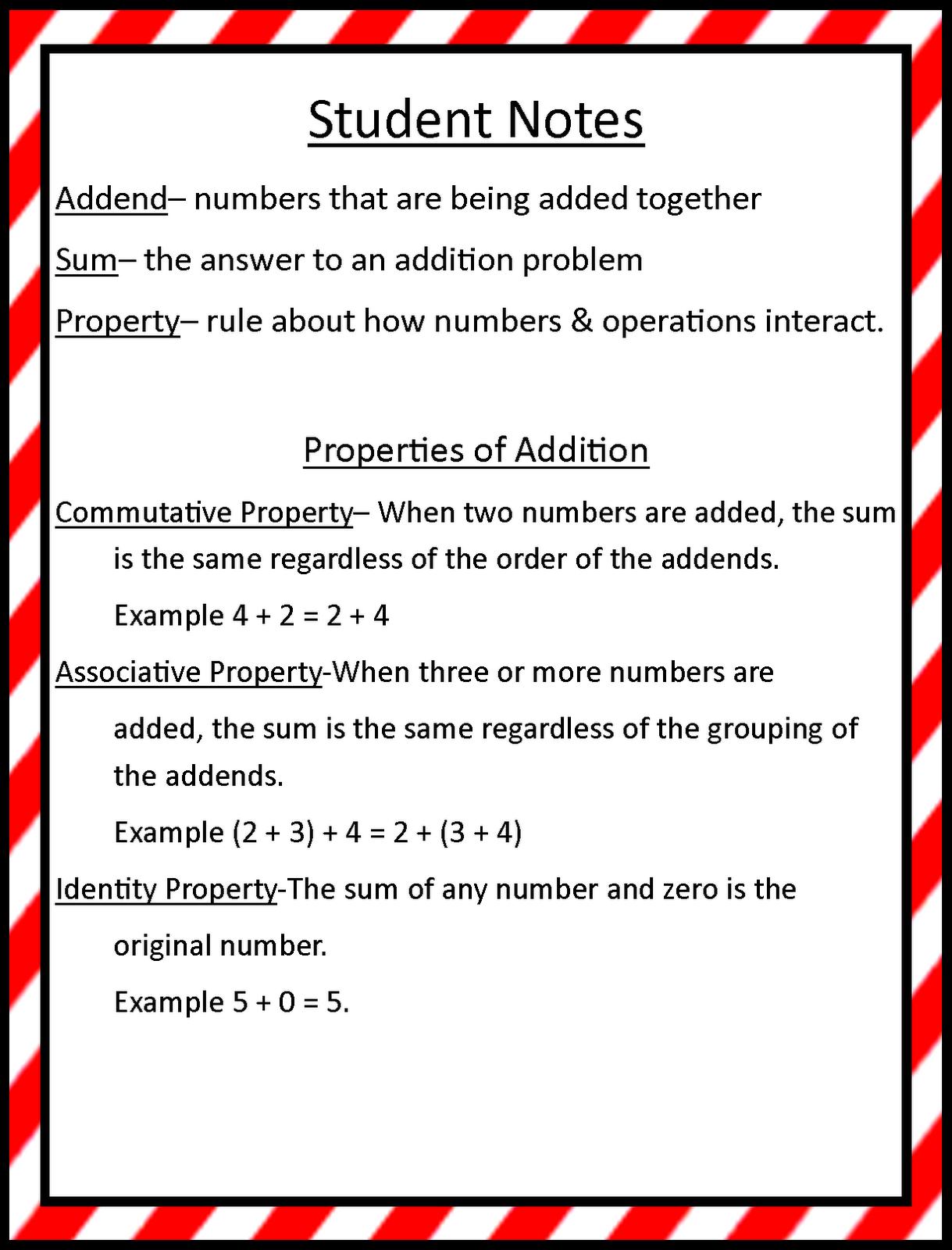 Mrs Hill S Perfect P I R A T E S Properties Of Addition