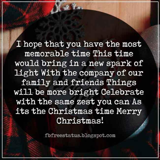 Christmas saying for cards and greeting