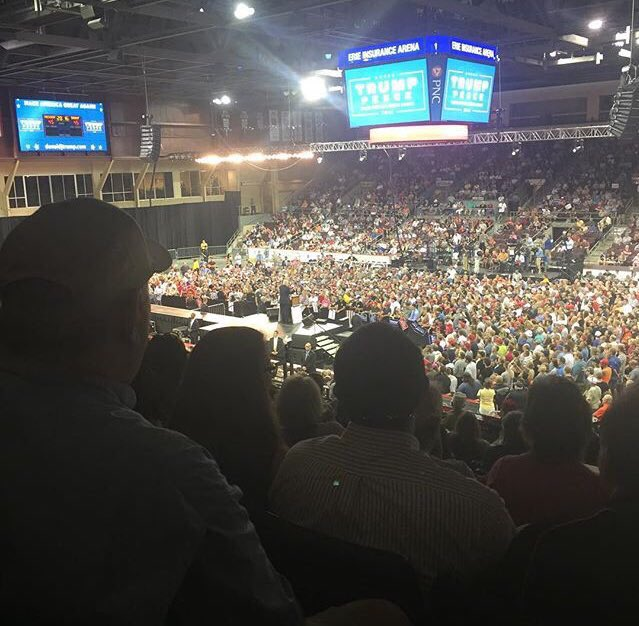 Trump erie pa rally attendance