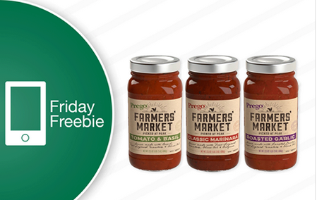 Farm Fresh Friday Freebie 7/28: Prego Pasta sauce
