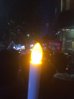Gwanghwamun Plaza LED candle politics happy life interest Participation the Blue House