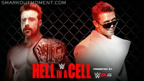 WWE Hell in a Cell 2014 The Miz vs Sheamus US Championship Title Match