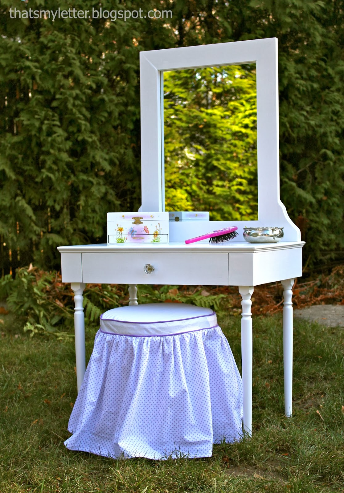 That S My Letter Quot V Quot Is For Vanity Stool Amp Slipcover