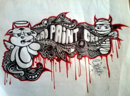 50+ Gambar Graffiti di Kertas Keren Nama, Huruf dan 3D ...