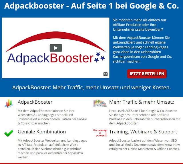Adpackbooster - Auf Seite 1 bei Google & Co.