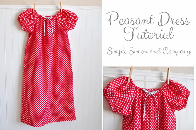 A Peasant Dress Tutorial - Simple Simon and Company