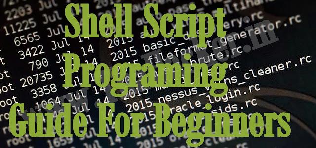 Shell Script Programing Guide For Beginners