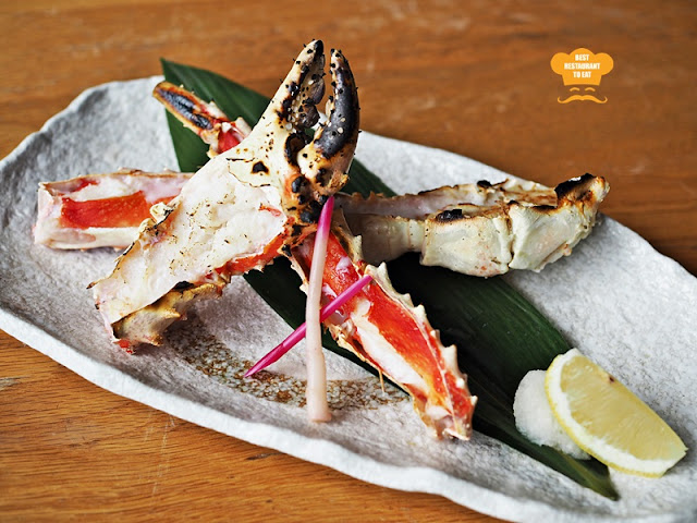 Taraba Gani (Grilled King Crab with Salt) - Kimi-Ya Japanese Restaurant New Menu 2018 Old Klang Road Kuala Lumpur
