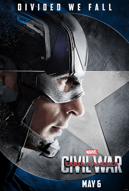 "Captain America: Civil War ""Team Cap"" Character Movie Poster Set - Chris Evans as Captain America"