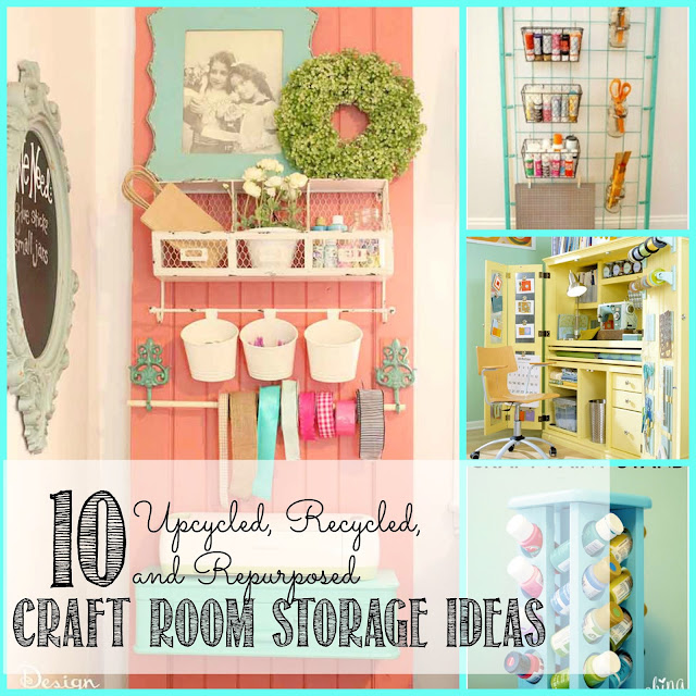 10 Upcycled, Recycled, and Repurposed Craft Room Storage ...
