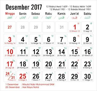 Kalender Desember 2017