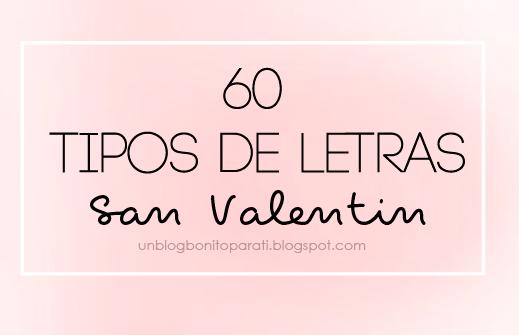 Tipos De Letras Para San Valentín Mi Diamante Azul