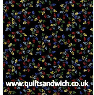 Spangles Black Multi www.quiltsandwich.co.uk extra wide