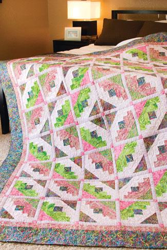 Cactus Flower Modern Quilt Free Pattern
