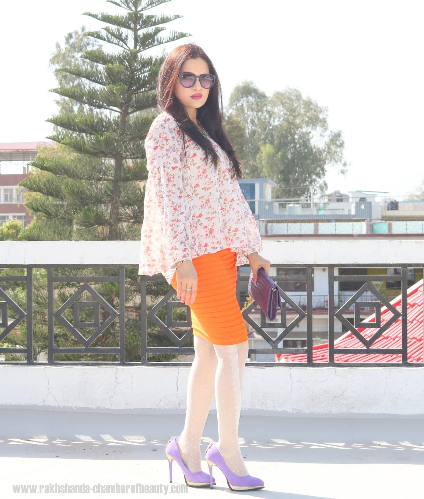 How to wear florals in spring, Floral prints for spring, Lara Karen Floral blouse from jabong.com, Online shopping from jabong