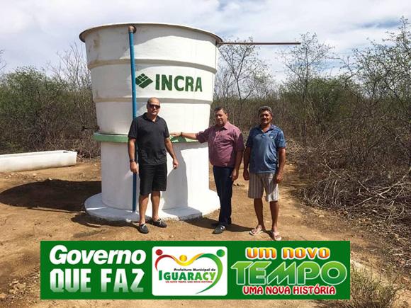 Governo Municipal de Iguaracy instala Poço Artesiano no Assentamento Cajueiro em parceria com o INCRA.