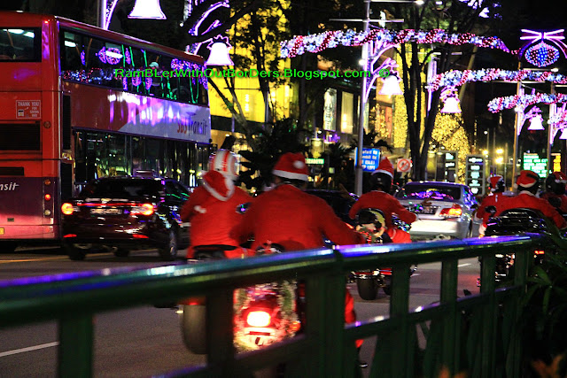 Santa biker gang, Orchard Road, Singapore