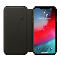 Husa Leather Folio iPhone XS Max Black
