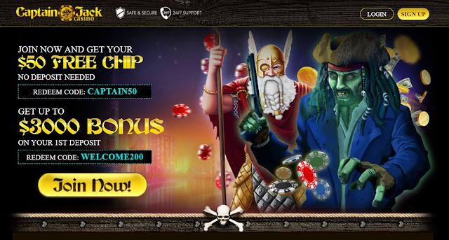 Casino bonus USA: Captain Jack Casino No Rules Bonus Codes | USA
