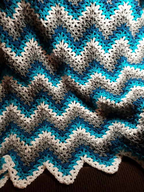 V-Stitch Ripple Afghan - Free Pattern