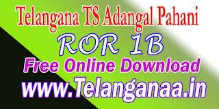 Telangana MaBhoomi Online Land Records http://mabhoomi.telangana.gov.in