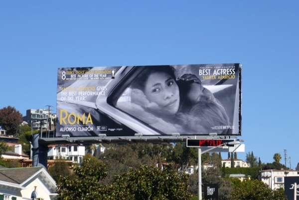 Roma Best Actress Yalitza Aparicio FYC billboard