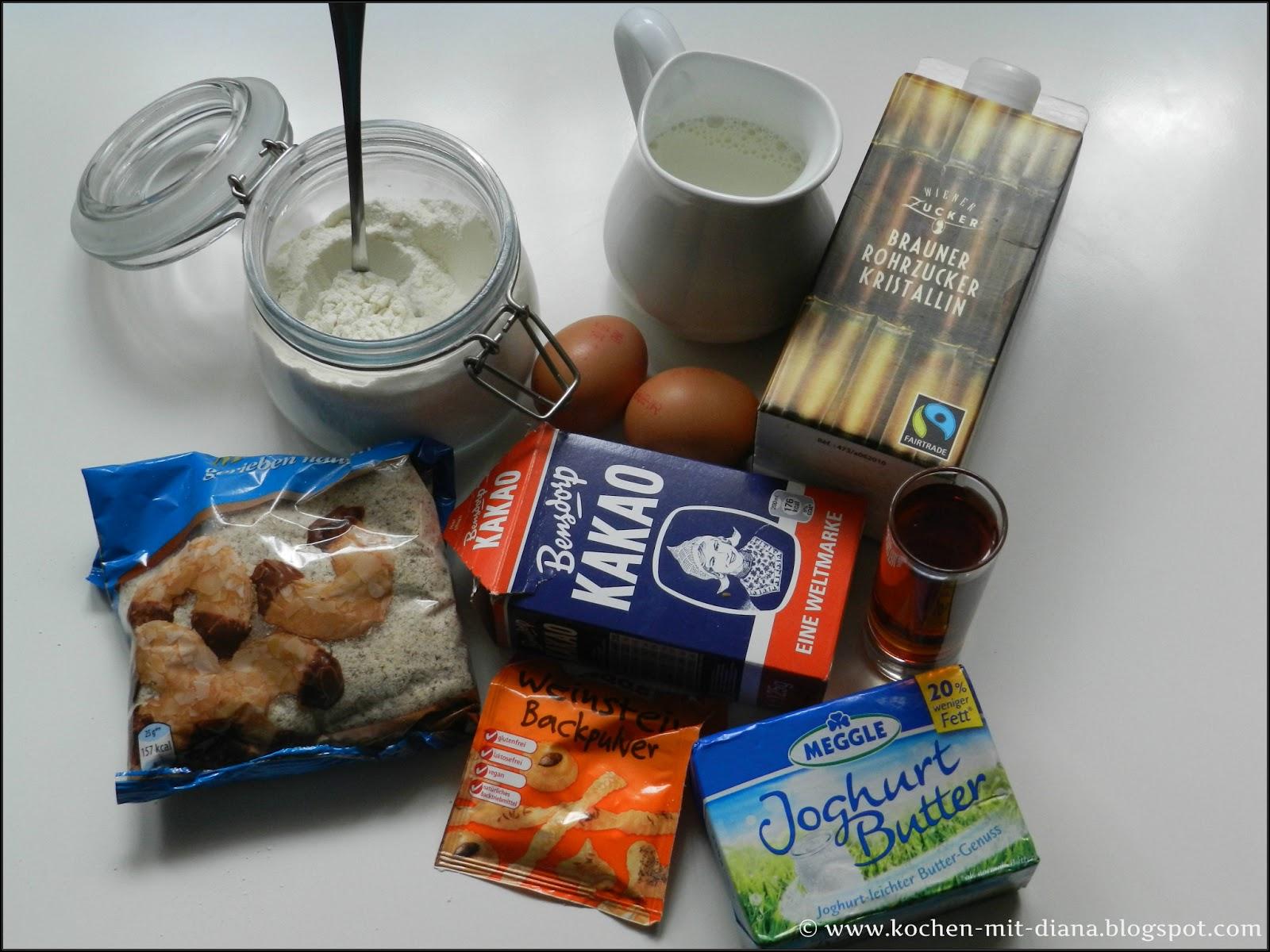 Zutaten Amaretto-Schoko-Muffins