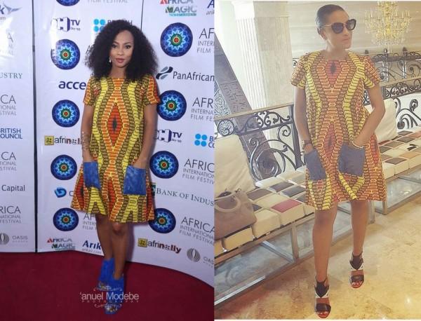Toke Makinwa Vs Iyanya's Girlfriend, Freda: Who Rocked The Print Dress Better? (Pics)