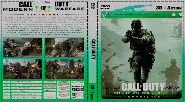 Capa Call Of Duty Modern Warfare Remastered PC