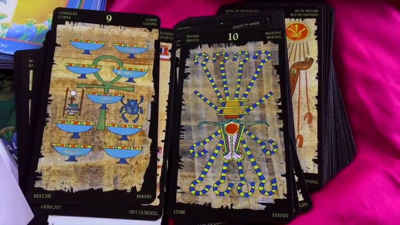Quelques cartes du tarot égyptien