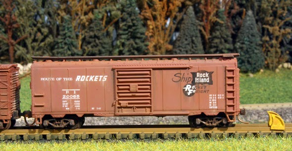 White River Division Rock Island Boxcar N Scale