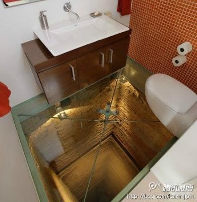 Diseños muy ingeniosos en el baño.