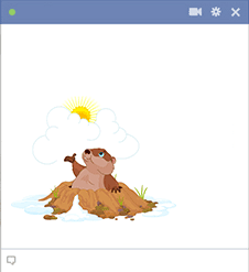 Groundhog Facebook Sticker