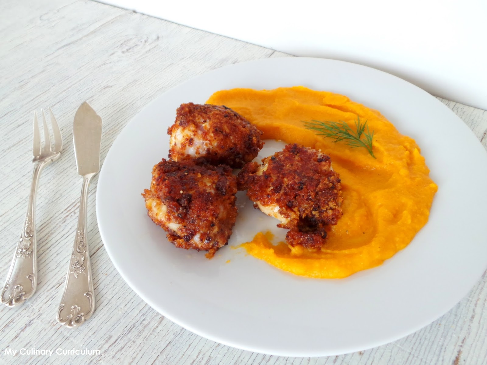 My Culinary Curriculum Lotte En Croute De Pain D Epices Et Sa Puree