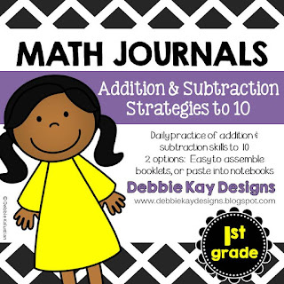 https://www.teacherspayteachers.com/Product/Math-Journals-Addition-Subtraction-Strategies-to-10-1977894