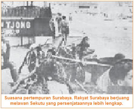 Suasana pertempuran surabaya