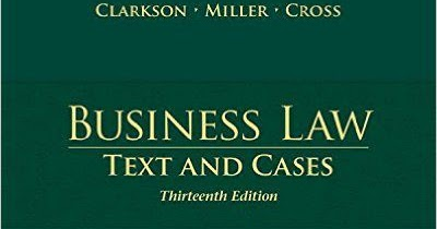 Business Law Text Cases Pdf