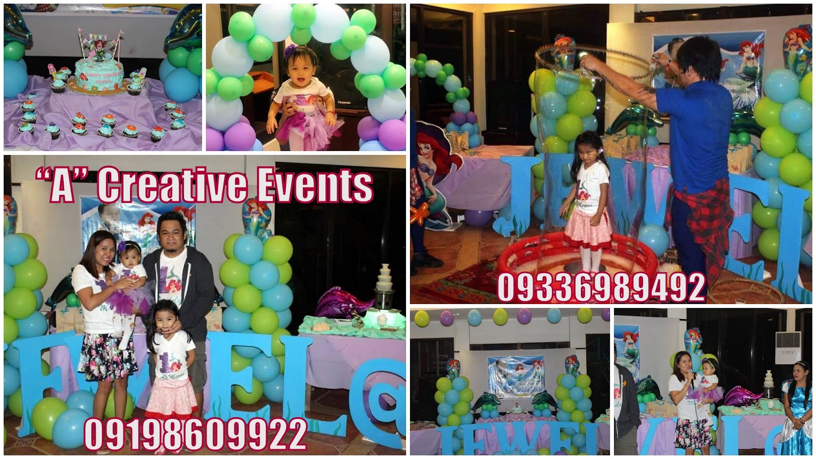 Ariel The Little Mermaid theme birthday party Davao City