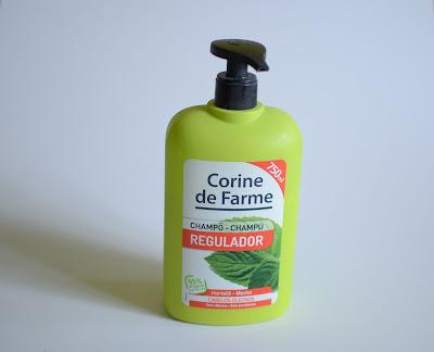 Шампунь для волос склонных к жирности, с мятой Corine de Farme Regulator Mint Shampoo