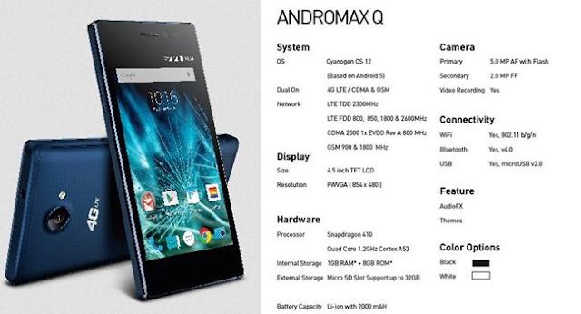 Spesifikasi Smartphone 4g Murah, Andromax Q Dari Smartfren