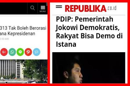 Lain Dulu Lain Sekarang, Massa Aksi 313 Tak Boleh Berorasi di Depan Istana Kepresidenan, Katanya Demokratis dan Kangen Didemo?