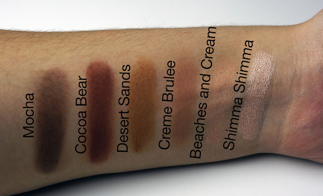 Makeup Geek neutral shadow swatches