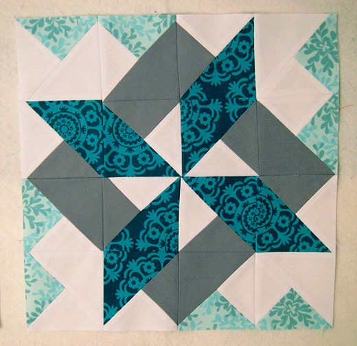 Starry Skyline Quilt Block designed by From Blank Pages