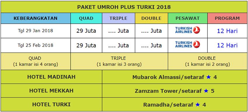 Brosur Dakwah wisata  umroh plus turki 2018