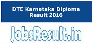 DTE Karnataka Diploma Result 2016