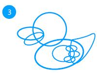 cara-menggambar-bebek-dengan-illustrator