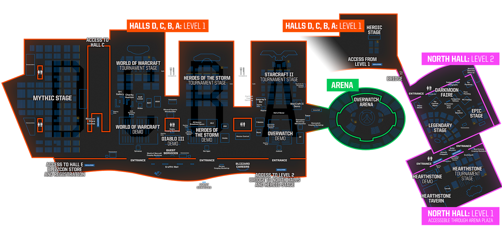 blizzcon 2017 map plus the joke from 2016 and 2015