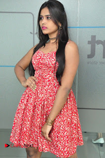 Priyanka looks super cute in a Red white Floral Short Dress at Yes Mart Event