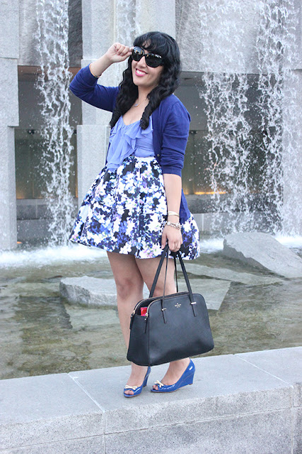Blue and Purple Monochrome Spring Outfit Inspiration | Will Bake for Shoes